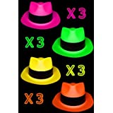 UV Floor Universe - Lot de 12 chapeaux fluo Al Capone
