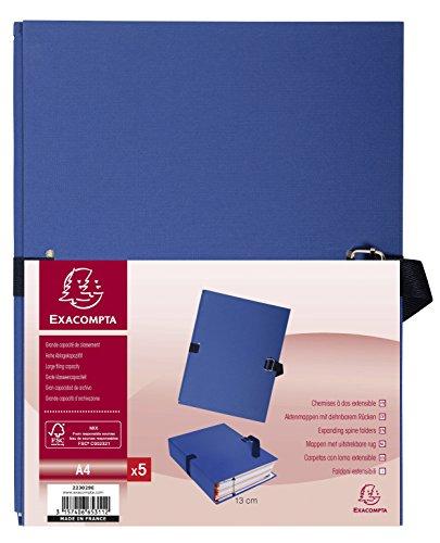 Exacompta 223029E - Pack de 5 carpetas, color azul