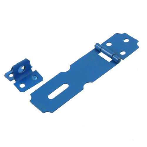 garage-serrure-76-cm-de-porte-en-metal-bleu-moraillon-staple-set-lot-de-2