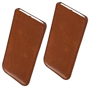 Ultra slim étui en cuir marron pour bea-fon s40 en cuir synthétique grainé avec ajustement parfait protection et étui de protection élégant étui de protection pour téléphone portable