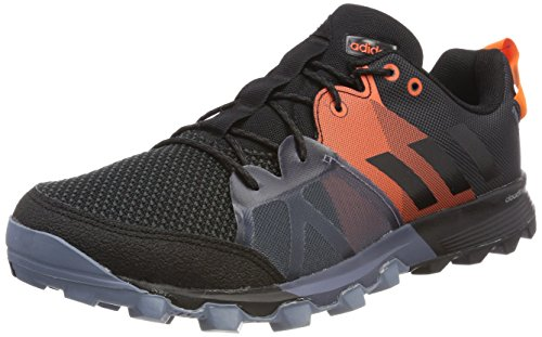 Adidas Kanadia 8.1 TR m, Zapatillas de Trail Running para Hombre, Negro (Carbon/Core Black/Orange 0), 42 EU