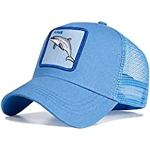 Gorras Sombrero Ajustable del Camionero del Broche de la Granja Animal del Algodón, Gorra Unisex