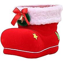 Amasawa 25 * 15 * 20cm Navidad Dulces Las Botas Extra Grande Decoracion (Rojo)