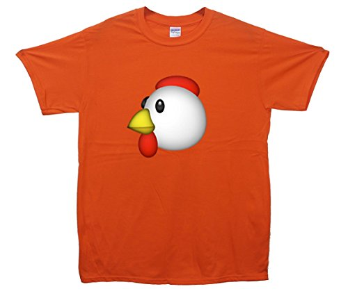 Chicken Emoji T-Shirt Orange