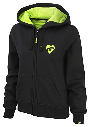 MusclePharm Damen Textilbekleidung Full Zip Hoody, Lime Green/Black, S, MPLSWT468