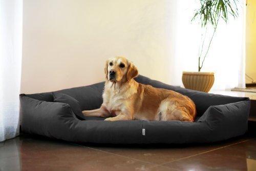 Artikelbild: TR4-02 Hundebett TRIVIA Eckbett Eckhundebett Hundesofa Hundebett Gr. L 100cm Graphit