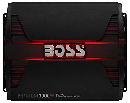 BOSS Audio PD3000 Phantom 3000W Monoblock, Klasse D Amplifier (Watt Installation Kit Amp 3000)