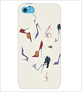PrintDhaba Sandals D-2643 Back Case Cover for APPLE IPHONE 5C (Multi-Coloured)