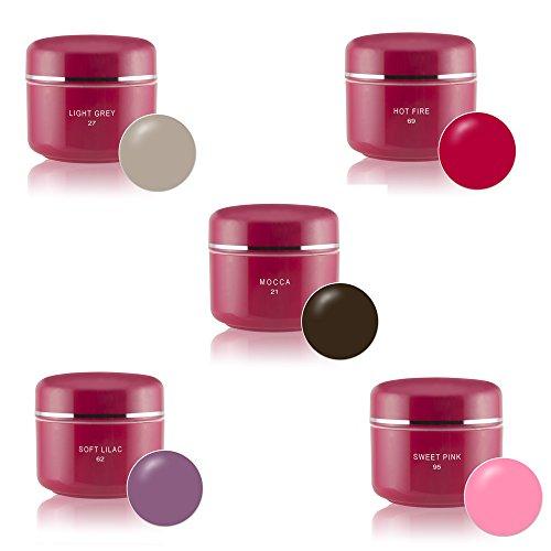 Gel uv colorati set 5x5ml colori nail art pigmento set uv gel n°6