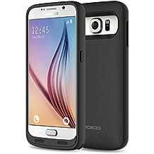 MoKo 3500mAh Power Bank Akku Hülle Aufladbare Externe Batterie Ladehülle Schutzhülle mit Integrierten Zusatzakku für Smartphone Samsung Galaxy S6 5.1 Zoll, Schwarz (nicht für S6 Edge/Active)
