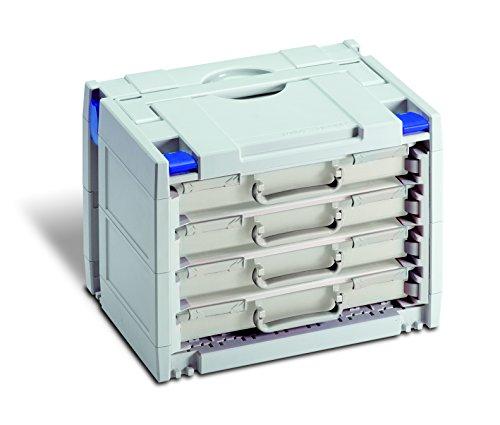 Preisvergleich Produktbild TanosNeu-Rack-systainer IV - Lichtgrau mit blauen Verschluss