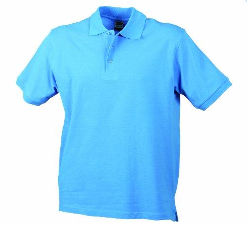 James & Nicholson Herren Poloshirt Aqua