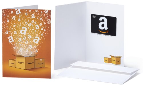 Amazon.com Gift Card with Greeting Card - $10 (Classic)