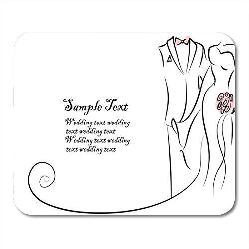 Braut-silhouette (Luancrop Mauspads Zuneigung Hochzeit Silhouette von Braut und Bräutigam Das Kleid Mauspad für Notebooks, Desktop-Computer Matten Bürobedarf)