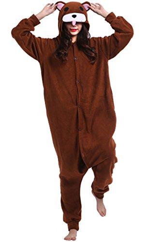 Unisexe Adulte Animal Cosplay Kigurumi Pyjama pour taille 140-187 cm - Ours Brun