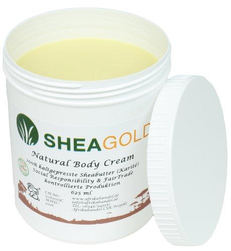 Kalt Gepresste Shea Butter (SheaGold Sheabutter kalt gepresst unraffiniert 500gr.)