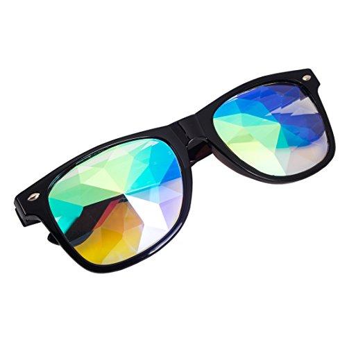Verbrennung Mann Kostüm - AFUT Kaleidoskop Goggles Regenbogen Brille Prisma Sonnenbrille für Cosplay