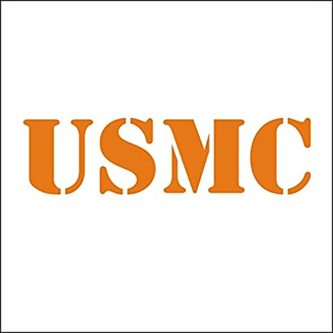3141__O Autocollant pour la voiture USMC United States Marine Corps vinyle Decal Stickers Voiture Sticker fenêtre Truck mur ( Orange)
