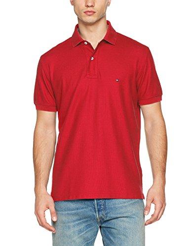 Tommy Hilfiger Herren Poloshirt Hilfiger Regular Polo, Rot (Barbados Cherry 619), Small
