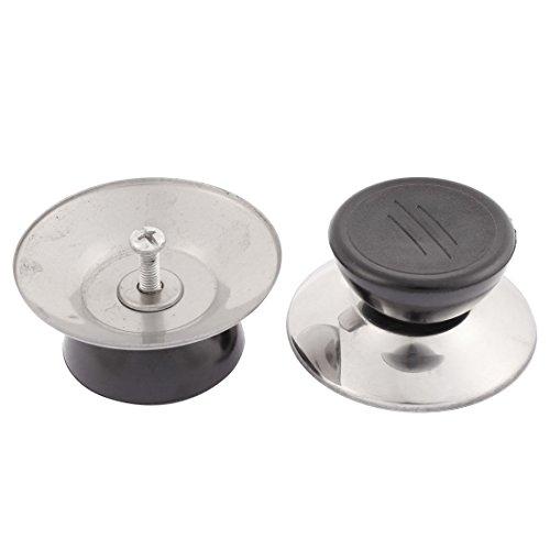 sourcingmap® Plastic Round Lid Handle Pan Kettle Knob Kitchen Cooker Cookware 2pcs