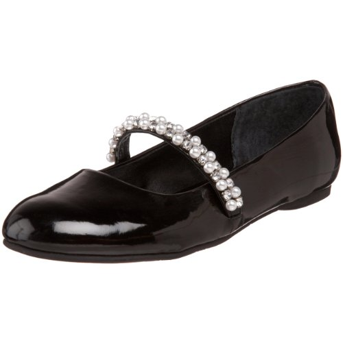 Nina Little Kid/Big Kid Nataly Ballet Flat,Black Patent,5 M US Big Kid