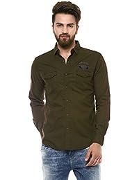 Mufti Men's Cotton Shirt,XXL (Brown, MFS-8439-E-22-MOUSE)