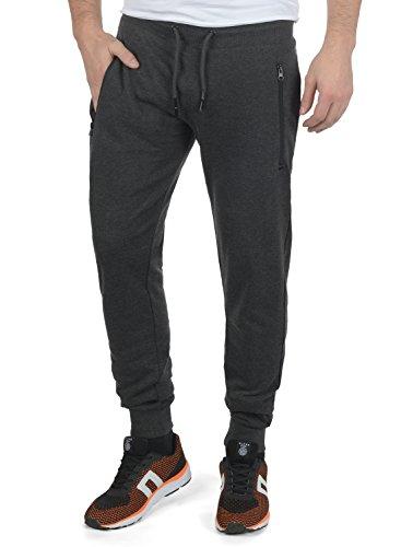 !Solid Taras Herren Sweatpants Jogginghose Sporthose Mit Fleece-Innenseite Und Kordel Regular Fit, Größe:L, Farbe:Dark Grey Melange (8288)