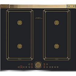 Kaiser KCT 6745 FI AD- Plaque de cuisson à induction 60 cm/plaque à induction/plaques métalliques Bronze/vitrocéramique avec 4 plaques à induction QickHeat/plaque de cuisson à induction