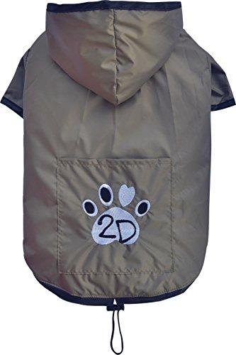 Doggy Dolly DR052 Hunderegenshirt, Größe: XS, 2 beinig braun