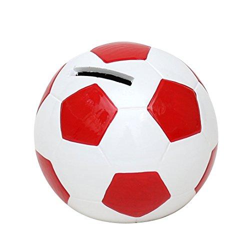 Alcancia en forma de balón de fútbol tamaño 10 x 10cm