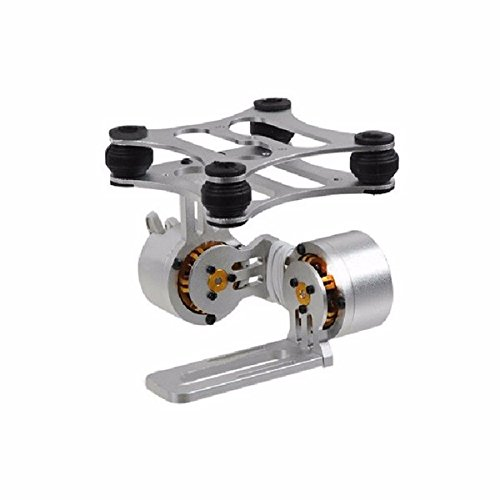 MYAMIA 2-Axis Aluminium Brushless Camera Mount Kardan Rahmen für GoPro Hero 2 3 DJI Phantom 2