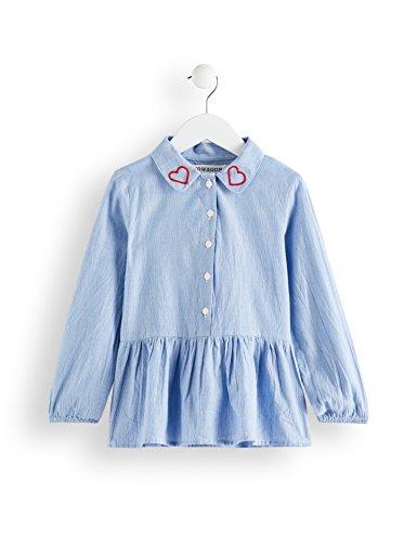 RED WAGON Camicia con Ricami Bambina Blu 110