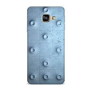 Qrioh Printed Designer Back Case Cover for Samsung A3 2016 - Abstract Circles Protruding Cement Wall