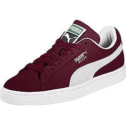 Puma - Suede Classic+ - Baskets mode - Mixte Adulte - Rouge (cabernet-white) - 36 EU