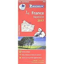 Carte France Nord-Est Michelin 2017