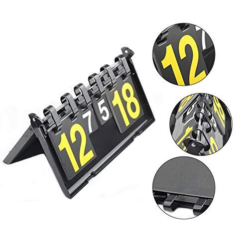 rker Tragbare Marker Tabelle 4 Ziffern wasserdichte Tischplatte Score Flipper Für Basketball Fußball Tennis Badminton Flip Digits Sport Anzeigetafel ()
