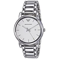 Emporio Armani Men's White Dial Stainless Steel Band Watch - Ar1854, Analog Display