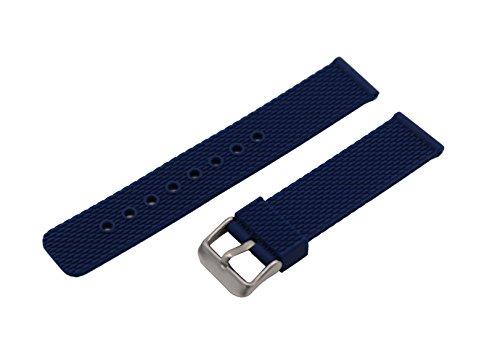 18mm Marineblau Uhr Gummi-Armband für Silikonuhrenarmband Damen mit Schnalle Edelstahlstift