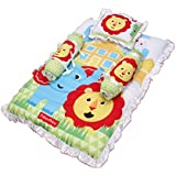 Fisher Price GS-02 Mattress Set With Pillow And 2 Bolsters (Multicolor)