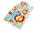 #4: Fisher Price GS-02 Mattress Set with Pillow and 2 Bolsters (Multicolor)