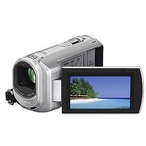 Sony DCR-SX30ES Camcorder (Memory Stick, 60-fach optischer Zoom, 4 GB interner Speicher, 6,9 cm (2,7 Zoll) Display, Bildstabilisator, Touchscreen) silber