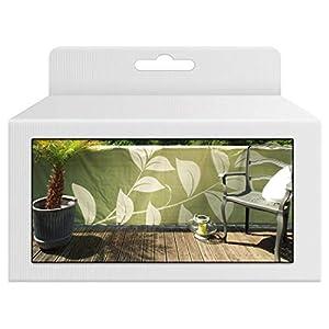 bambus-discount.com Balkonsichtschutz mit Natur Motiven, Bespannung grün farbig, Höhe 90cm x Länge 300cm – Sichtschutz…