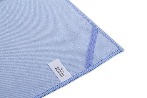 MJ Texpia, Mikrofaser Glas Fenster Küchentuch XL Größe, 50cmx70cm, Blau (10-er Pack)