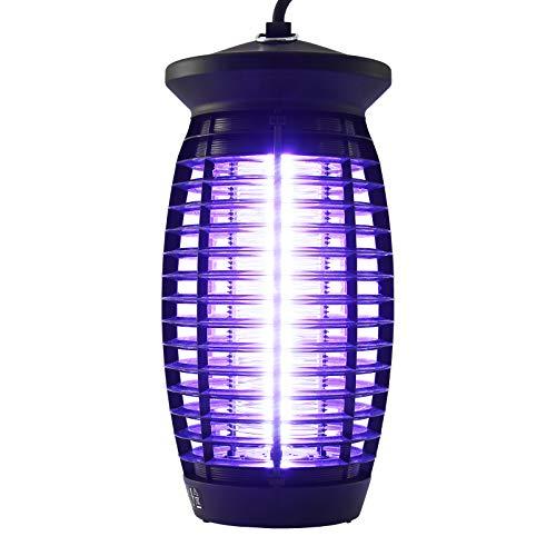 Yorbay Lámpara antimosquitos Mata Insectos, Lámpara insecticida UV, 6 W para Mosquitos, Negro, 15 x 15 x 32 cm