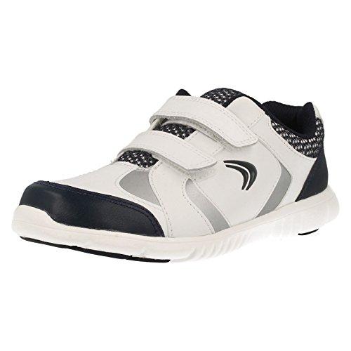 Clarks Junior Club gratis Jungen Sneaker Weiß