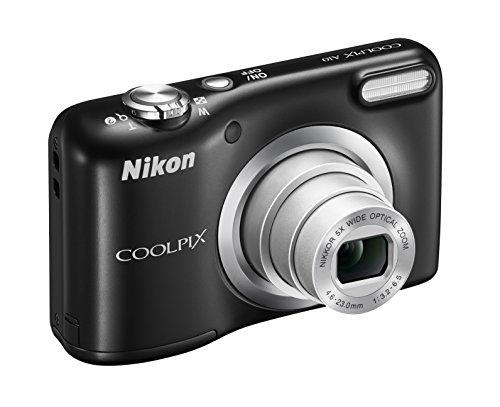 Nikon Coolpix A10 Fotocamera Digitale Compatta, 16 Megapixel, Zoom 5X, LCD 2,8', HD, Nero [Nital card: 4 anni di garanzia]