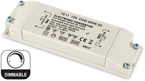 Dimmbarer elektronischer Slim Trafo für Halogen-Leuchtmittel - 230V zu 12V - 35W-105W Transformatoren Ac Zu Ac