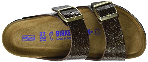 Birkenstock - Arizona Birko-flor, Pantofole Donna Braun (Myda Espresso)