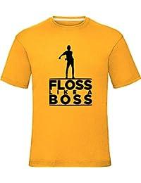 Floss Like a Boss T-Shirt Boys Girls Kids Adults Tee Top Sunflower 9-11 Years