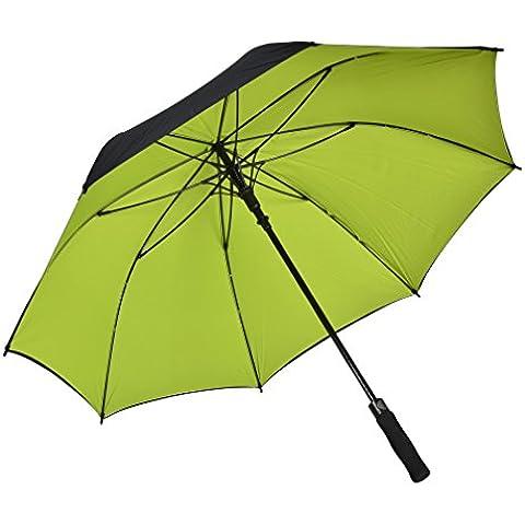 Ombrello con apertura dritta atree auto 56inch doppio strato antivento grande ombrello da Golf Outdoor con 8costole, resistente e abbastanza forte, Borsa per il trasporto inclusa, Green